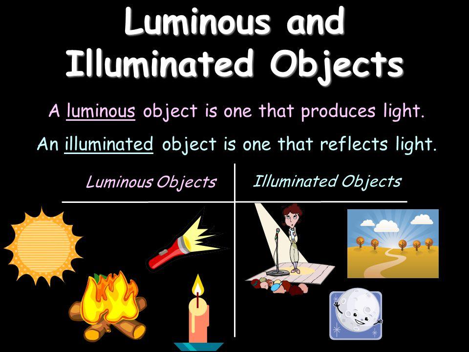 Luminous and Illuminated Objects
