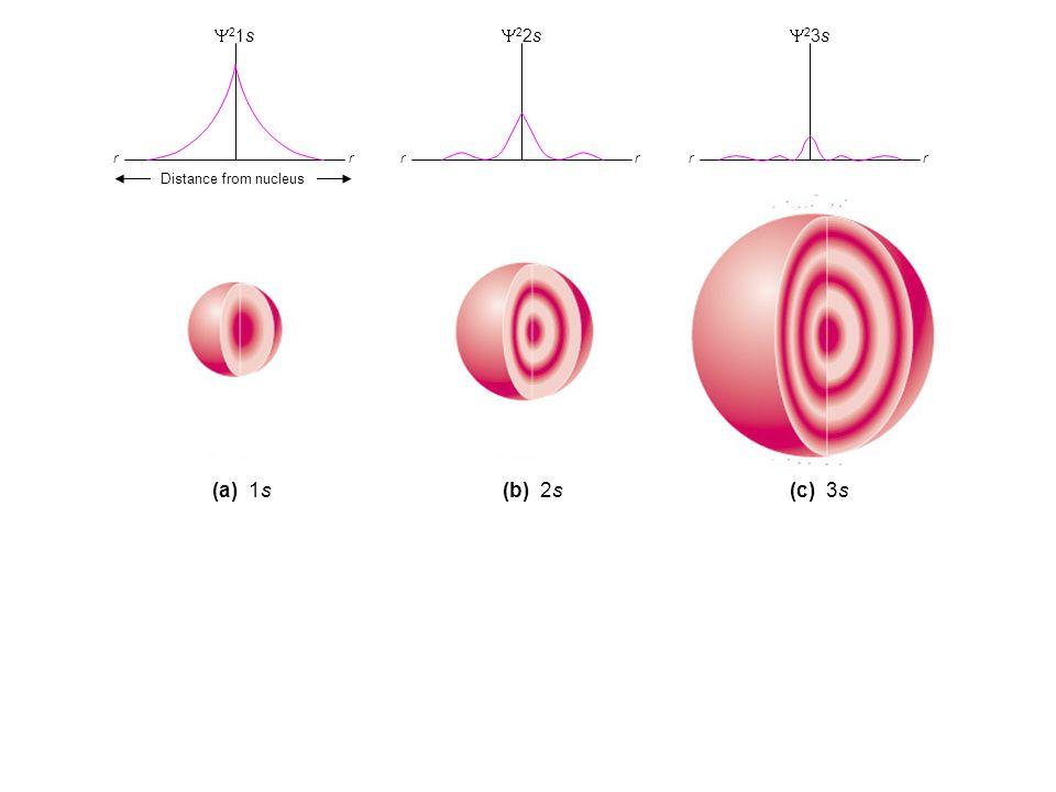 Y21s Y22s. Y23s. r. r. r. r. r. r. Distance from nucleus.