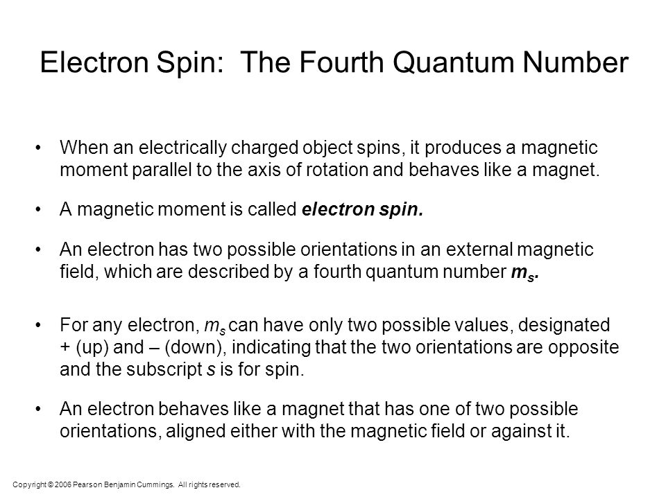 Electron Spin: The Fourth Quantum Number