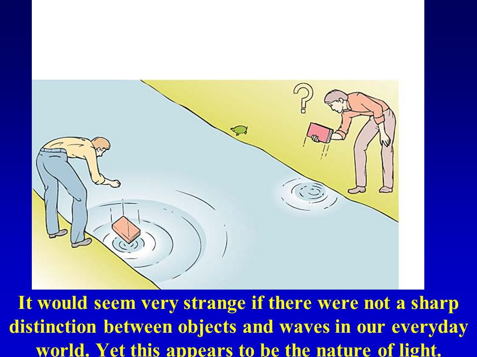 It would seem very strange if there were not a sharp distinction between objects and waves in our everyday world.