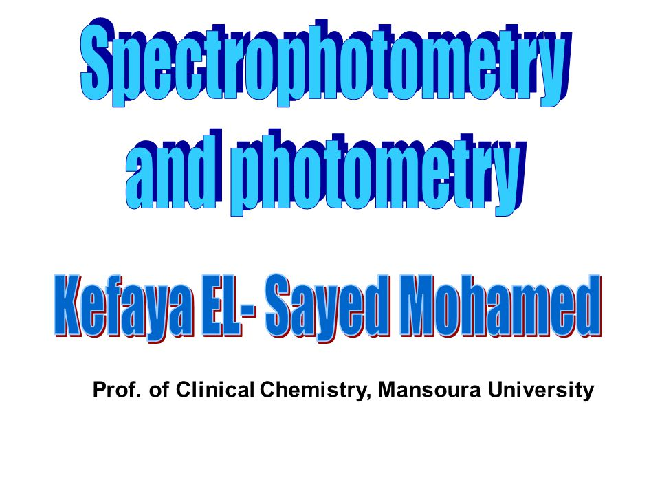 Prof. of Clinical Chemistry, Mansoura University