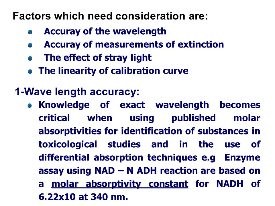 Factors which need consideration are: