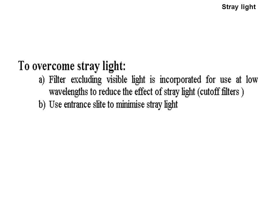 Stray light