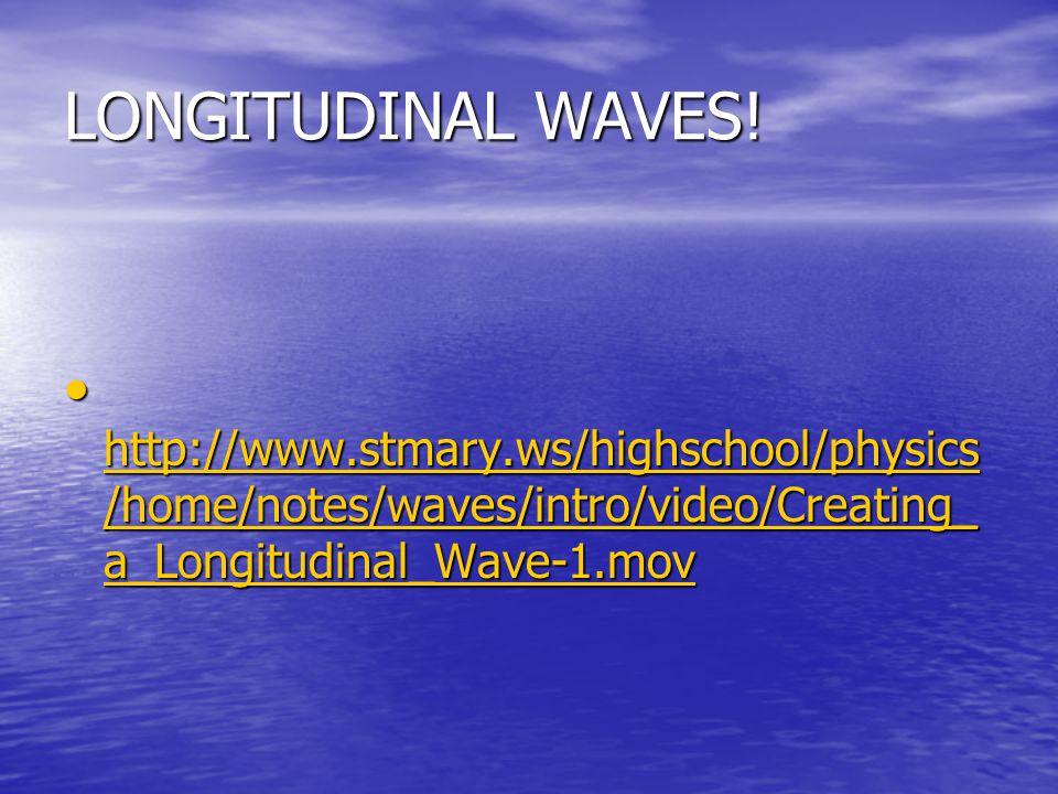 LONGITUDINAL WAVES.