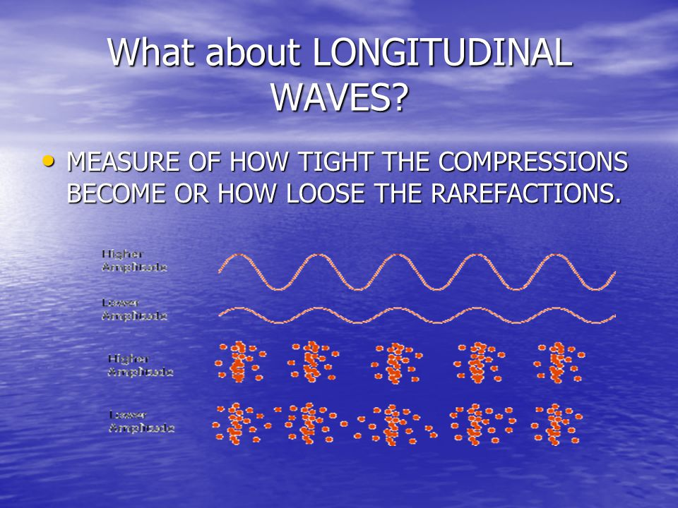 What about LONGITUDINAL WAVES