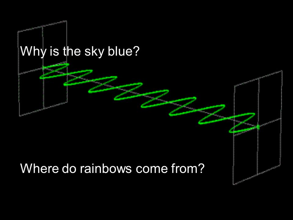 Why is the sky blue Where do rainbows come from