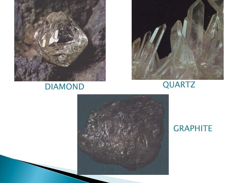 QUARTZ DIAMOND GRAPHITE