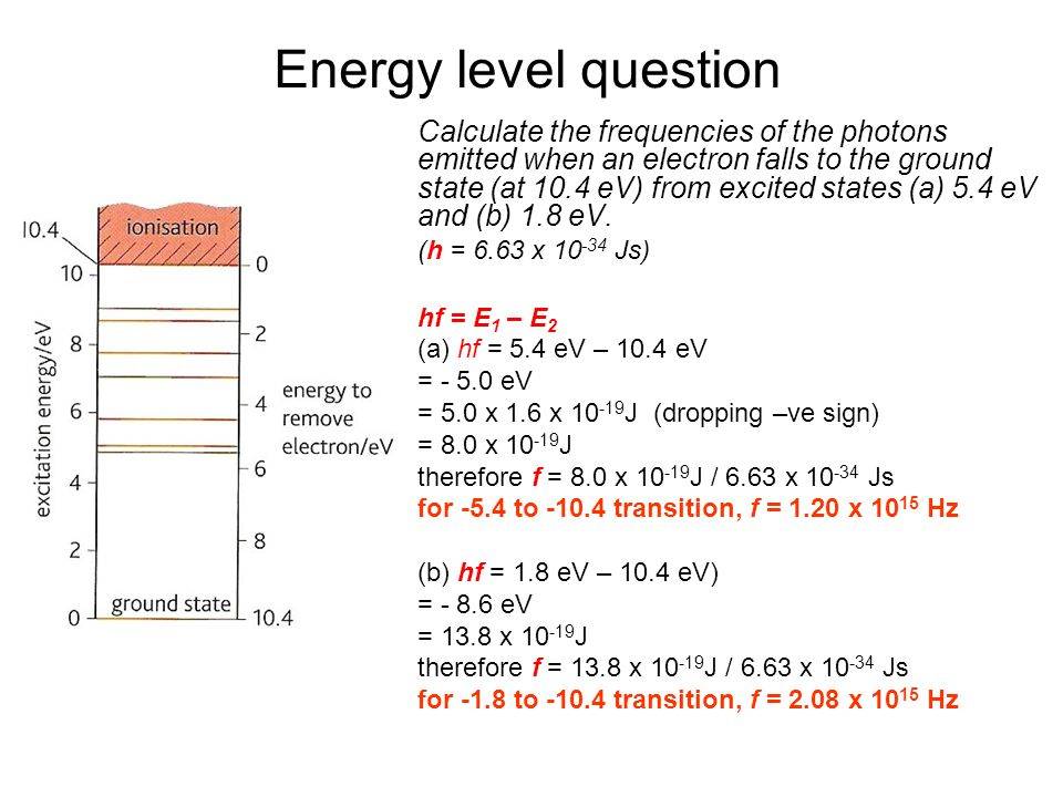 Energy level question