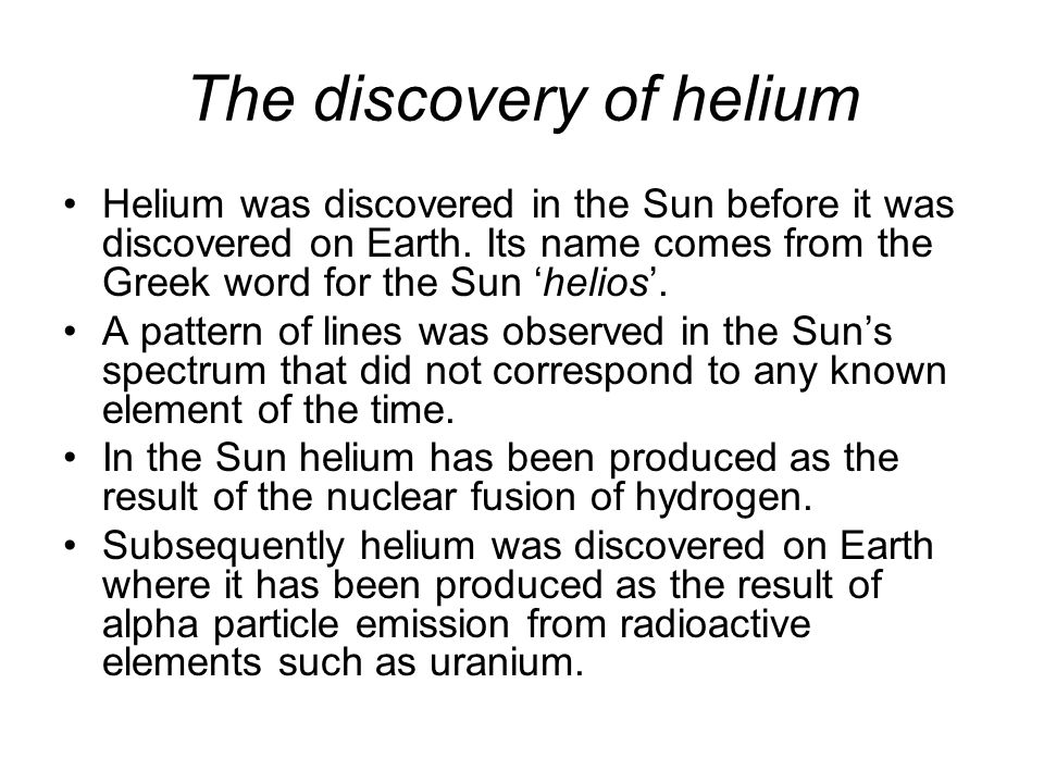 The discovery of helium