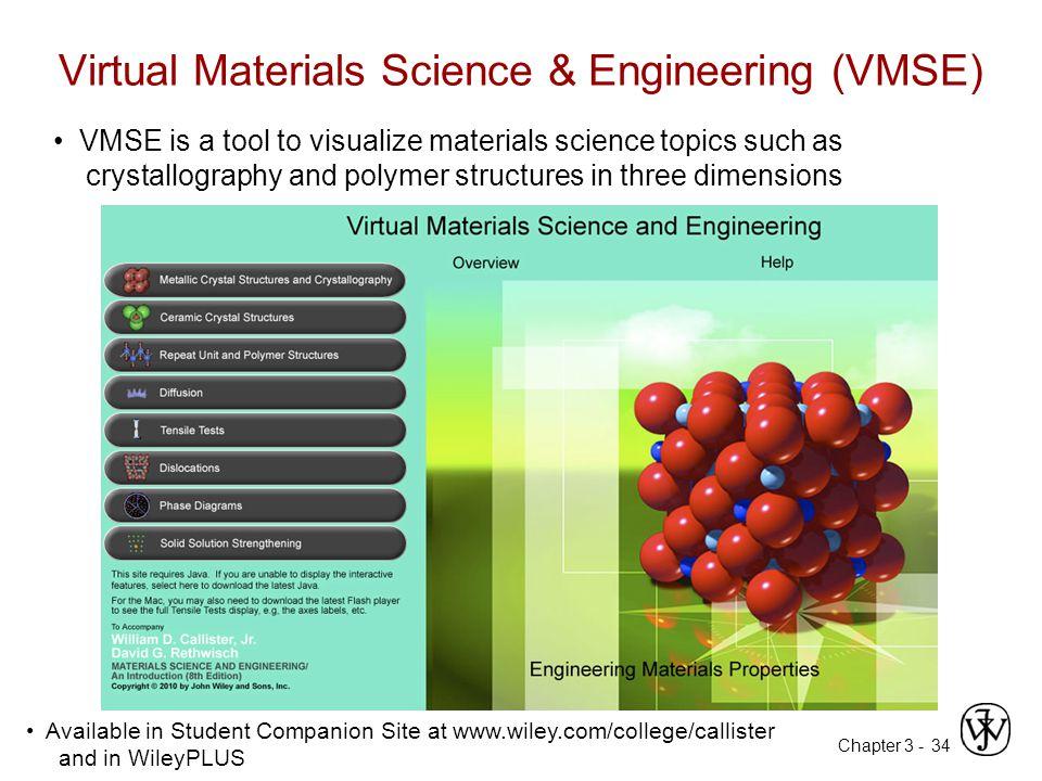 Virtual Materials Science & Engineering (VMSE)