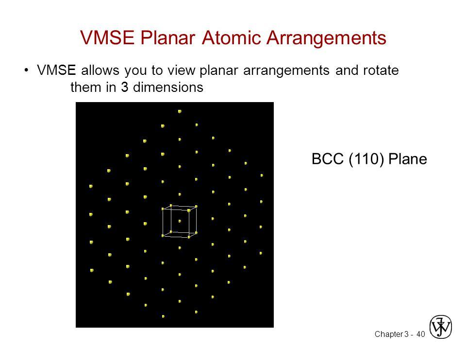 VMSE Planar Atomic Arrangements
