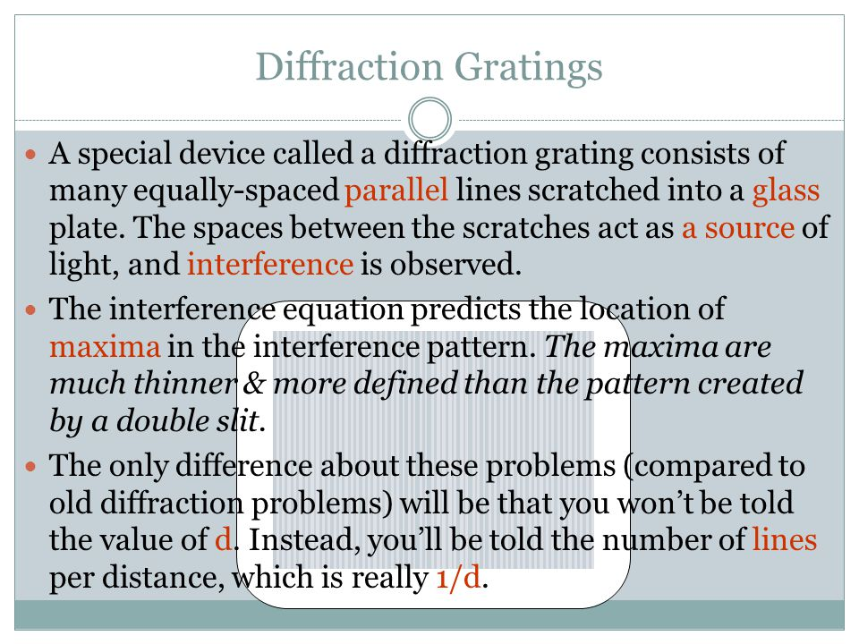 Diffraction Gratings