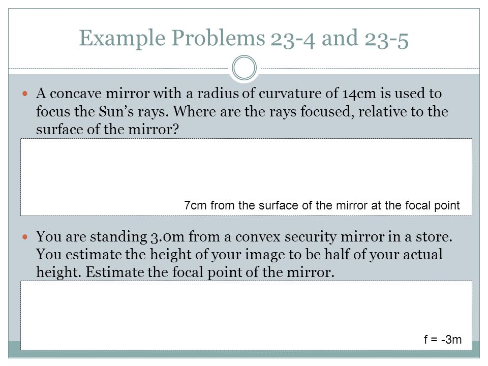Example Problems 23-4 and 23-5