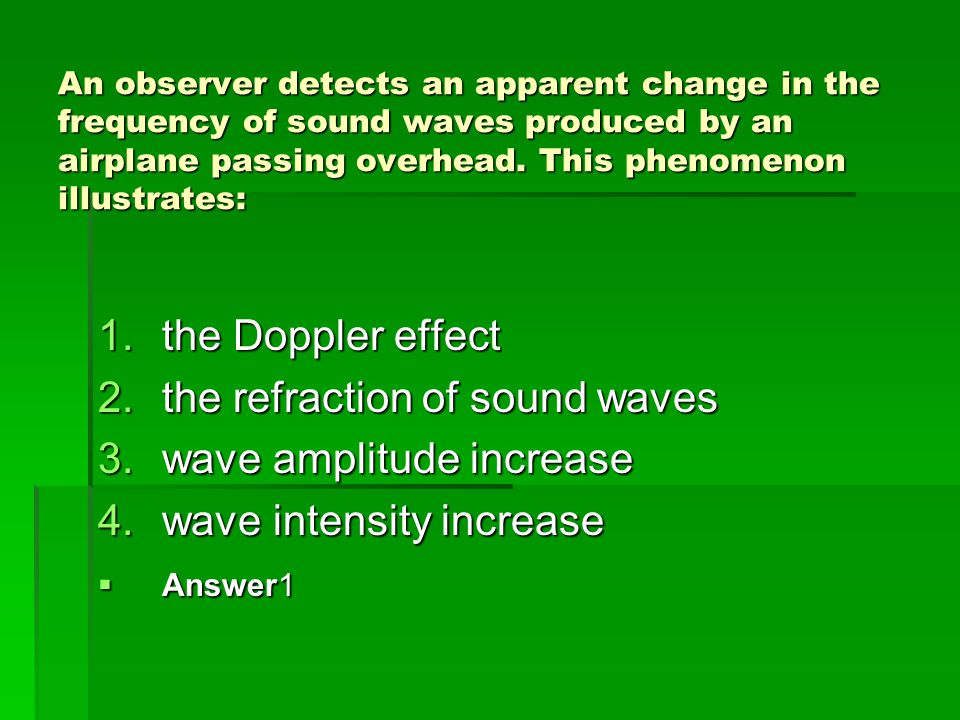 the refraction of sound waves wave amplitude increase