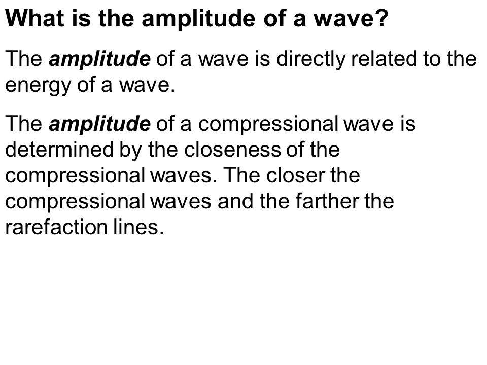 What is the amplitude of a wave