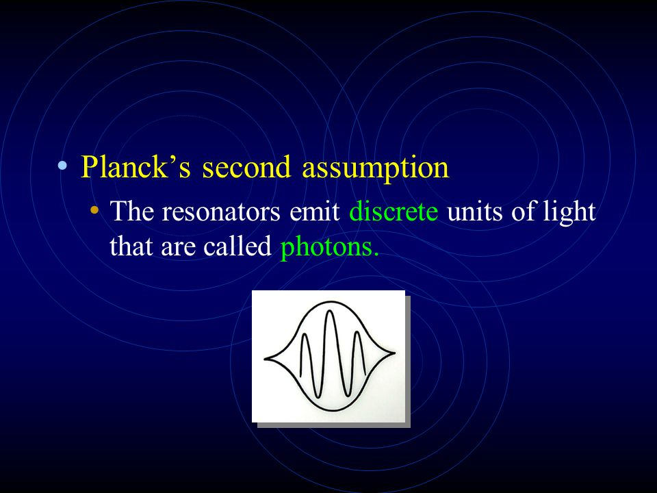 Planck's second assumption