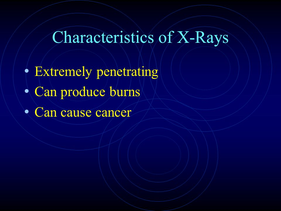 Characteristics of X-Rays
