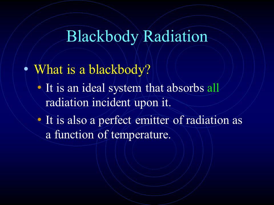 Blackbody Radiation What is a blackbody