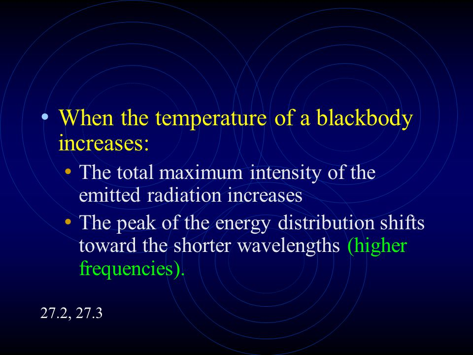 When the temperature of a blackbody increases: