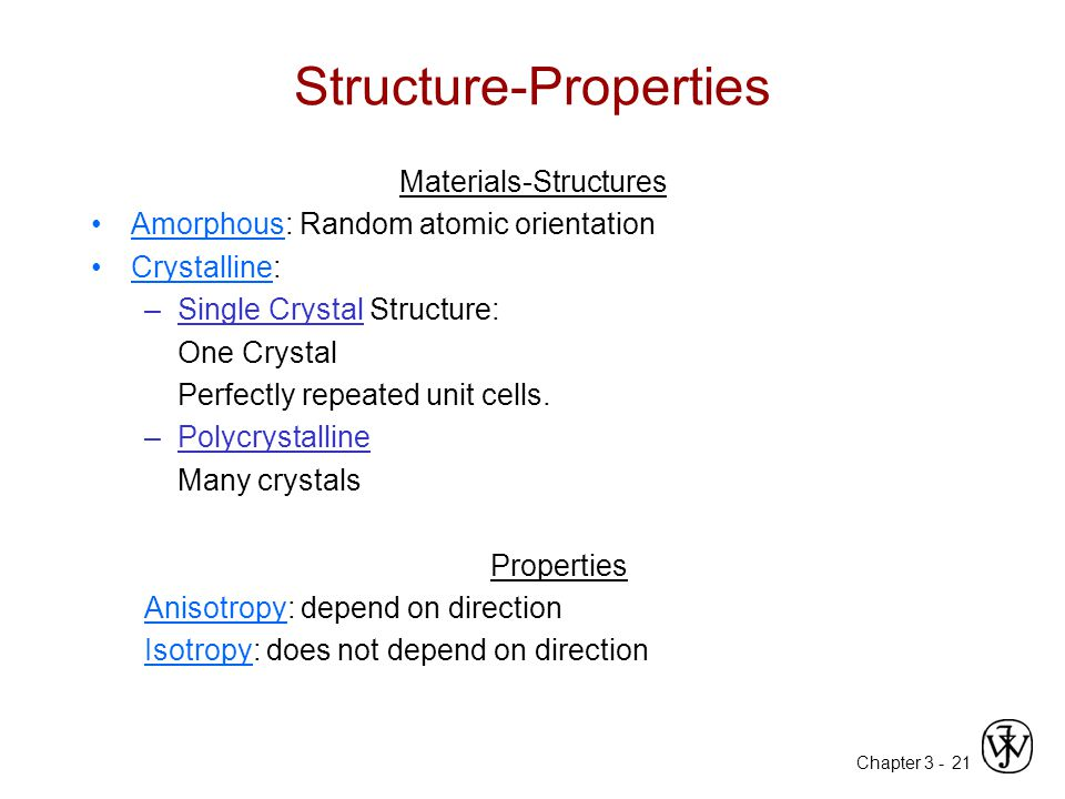 Structure-Properties