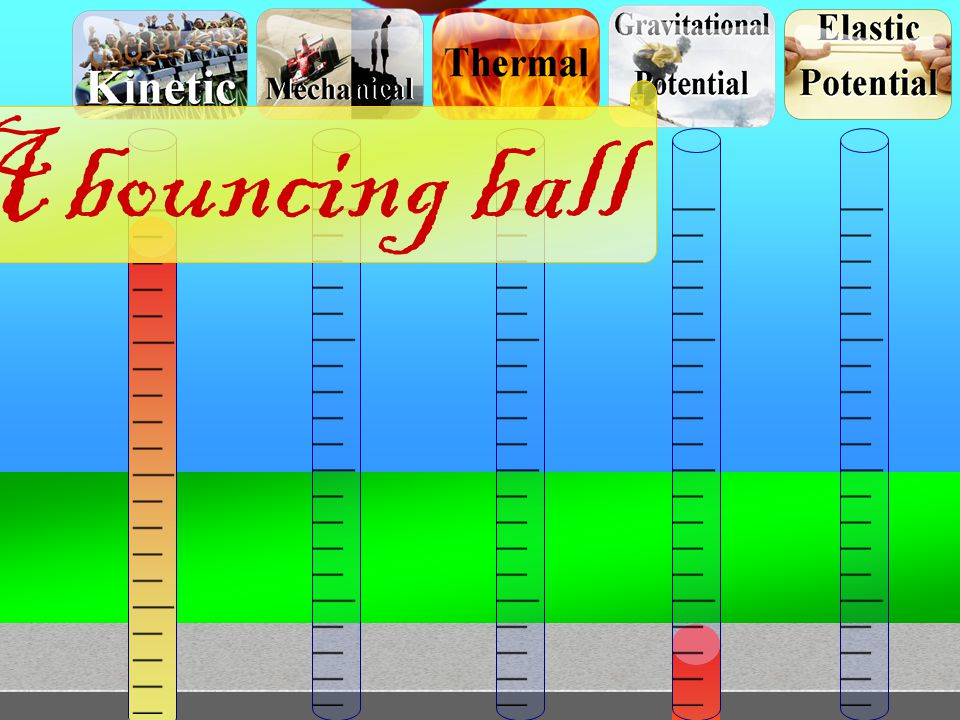 A bouncing ball