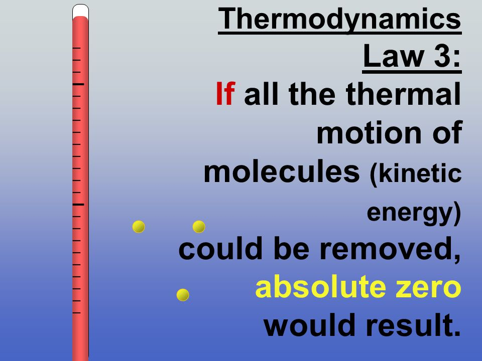 If all the thermal motion of molecules (kinetic energy)