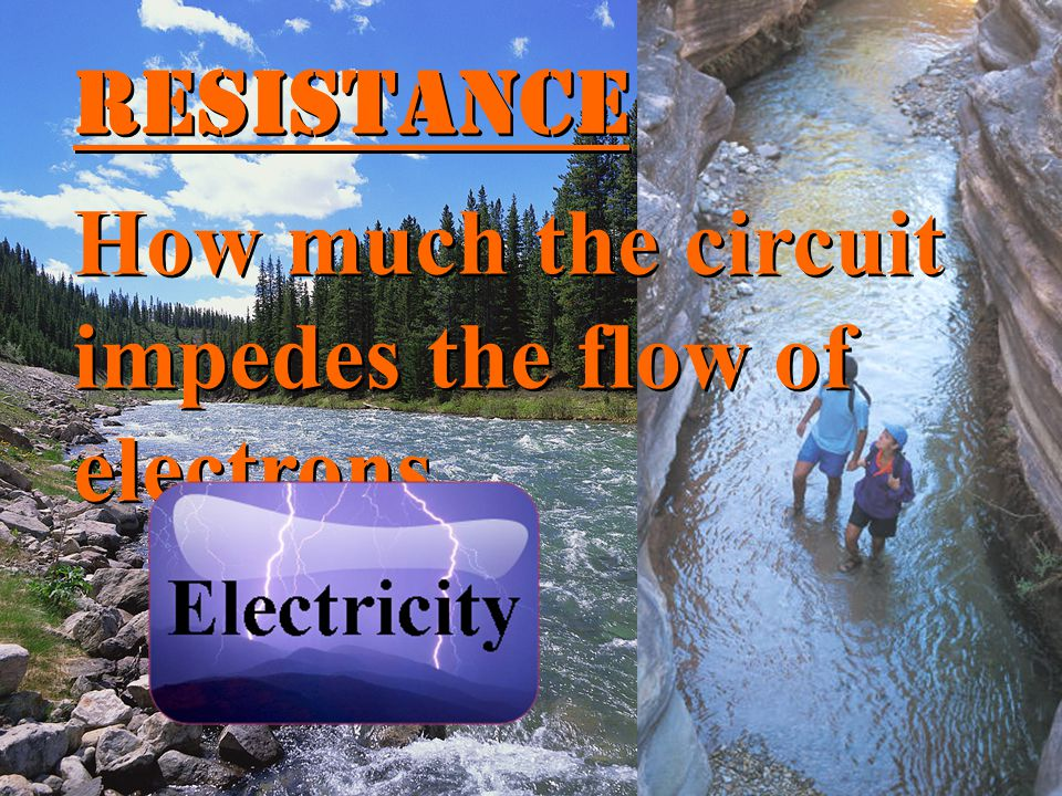 Resistance How much the circuit impedes the flow of electrons.