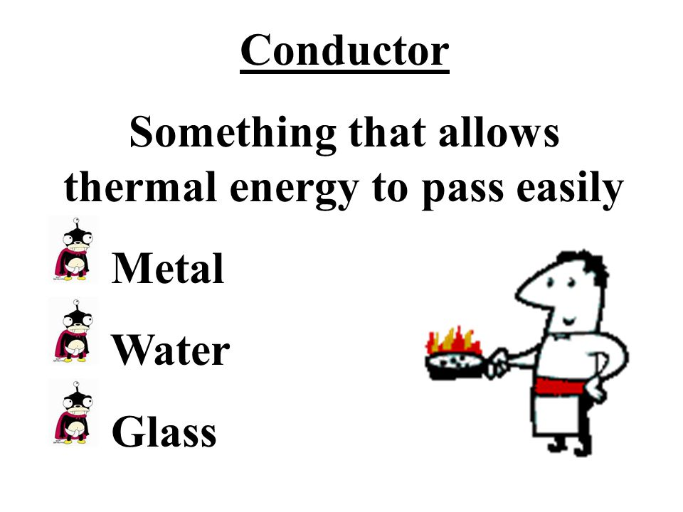 Something that allows thermal energy to pass easily