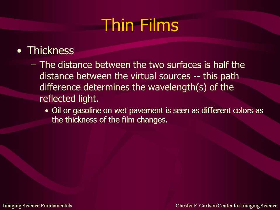 Thin Films Thickness.