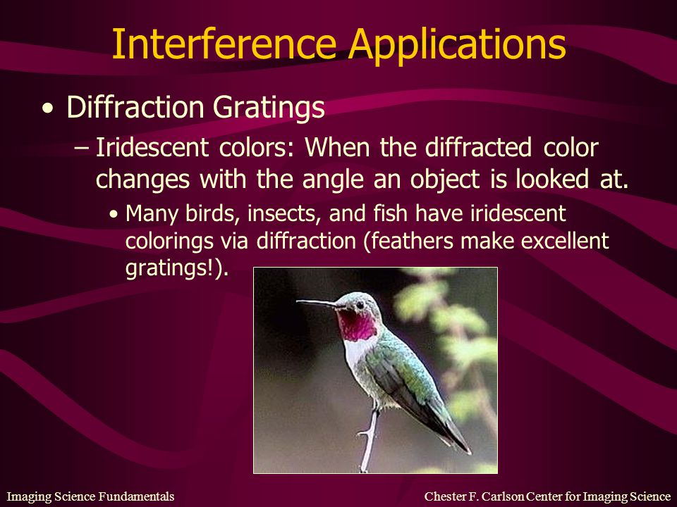 Interference Applications