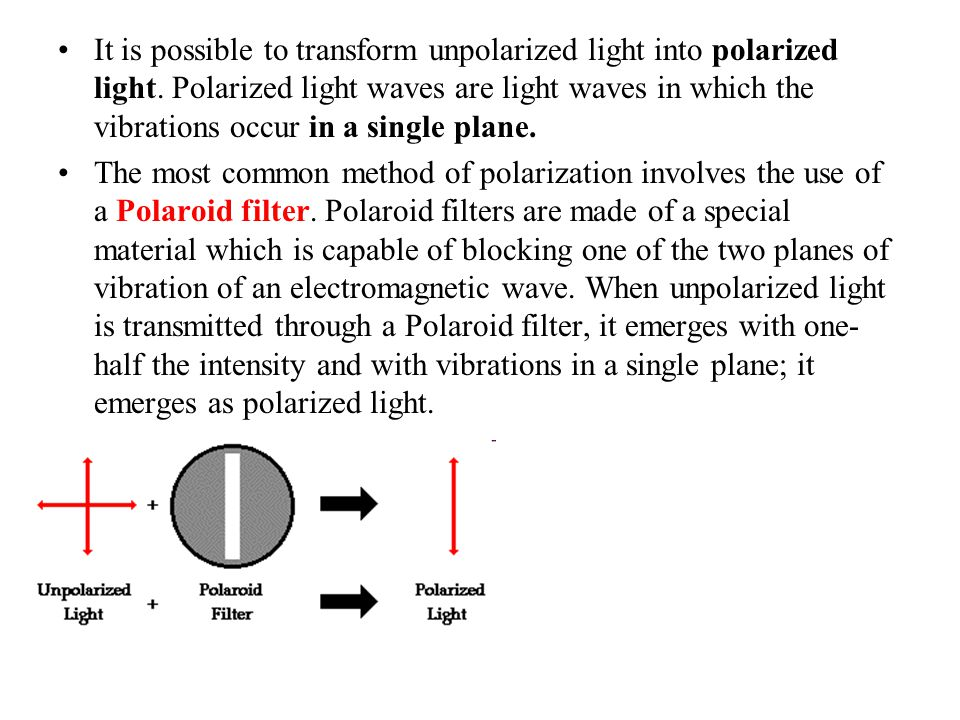 It is possible to transform unpolarized light into polarized light