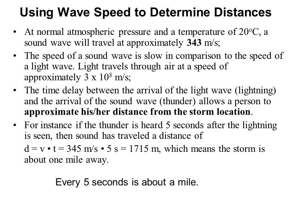 Using Wave Speed to Determine Distances