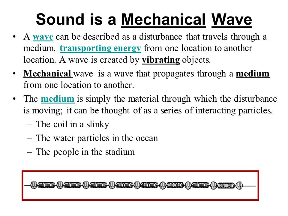 Sound is a Mechanical Wave