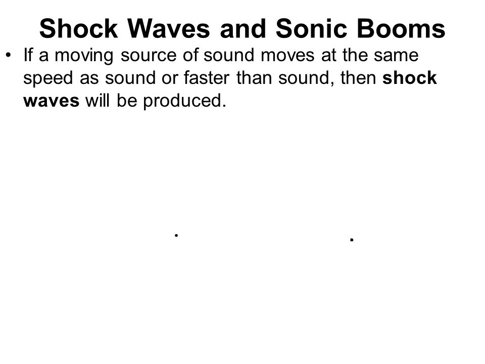 Shock Waves and Sonic Booms