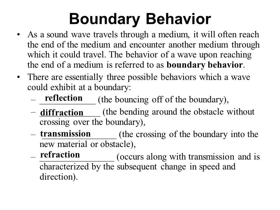 Boundary Behavior