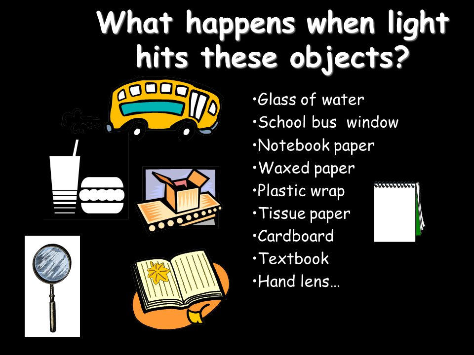 What happens when light hits these objects