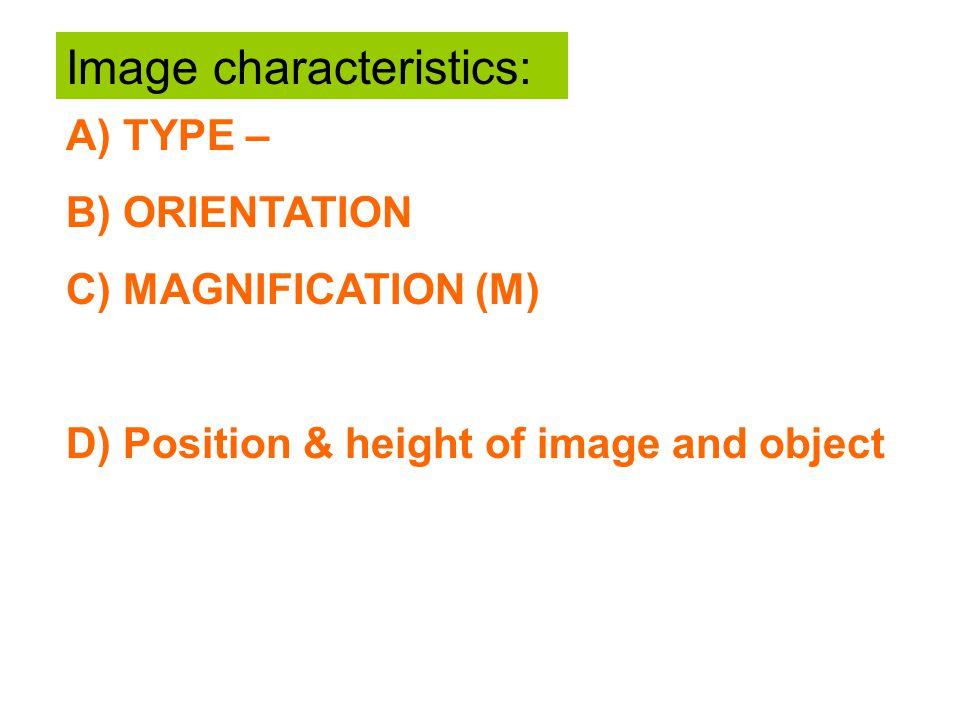 Image characteristics: