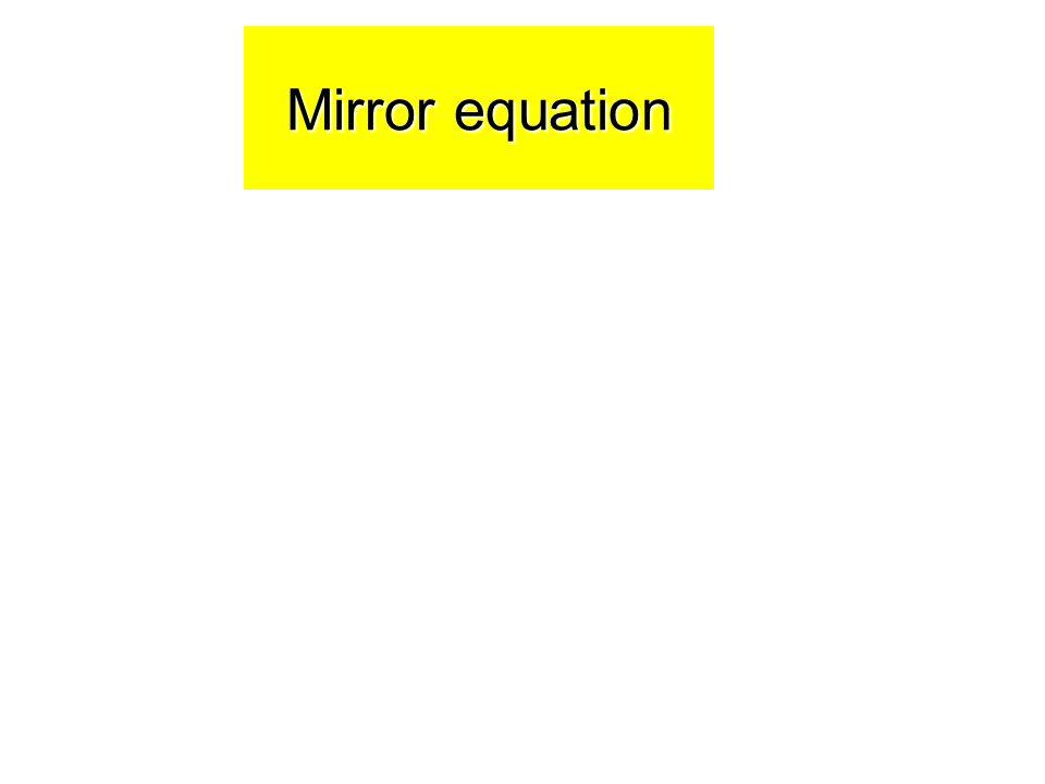 Mirror equation 54