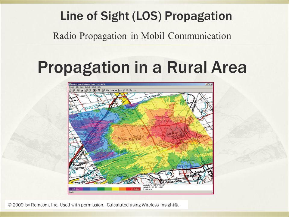 Propagation in a Rural Area