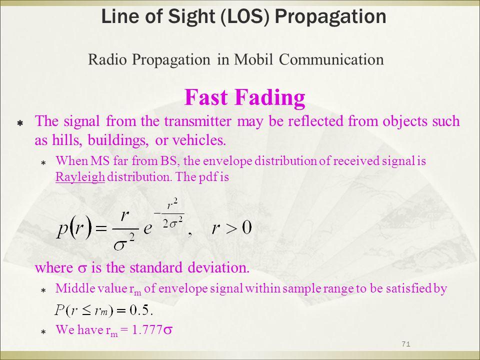 Fast Fading Line of Sight (LOS) Propagation