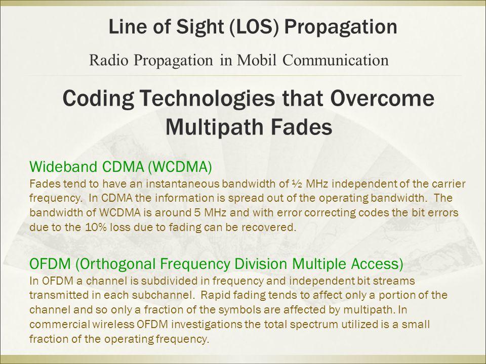 Coding Technologies that Overcome Multipath Fades