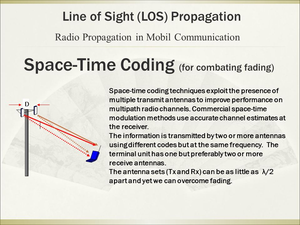 Space-Time Coding (for combating fading)