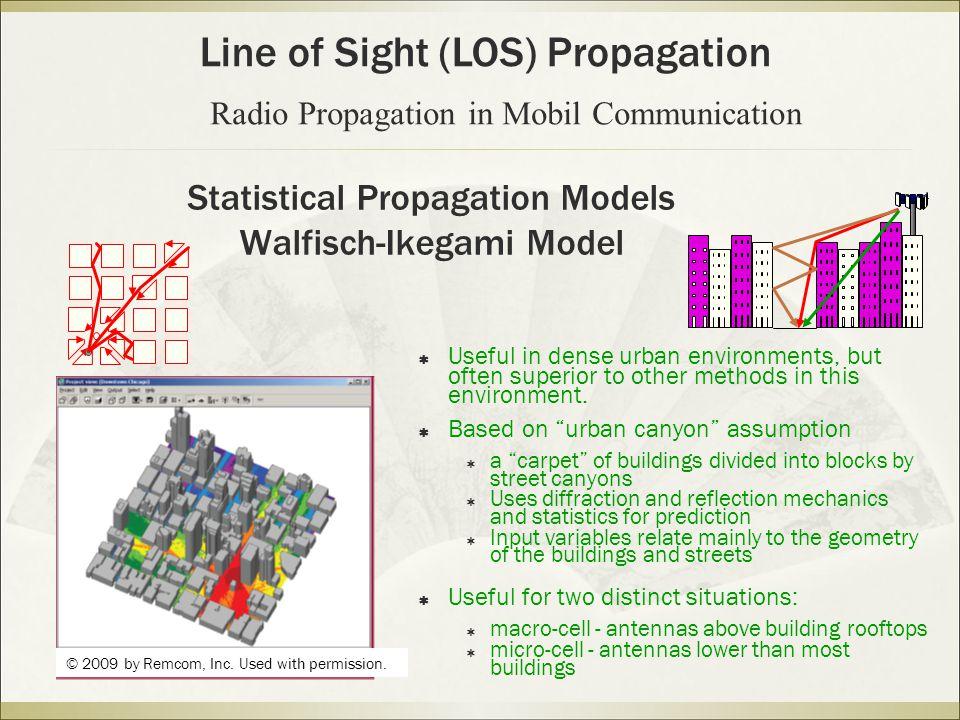 Statistical Propagation Models Walfisch-Ikegami Model