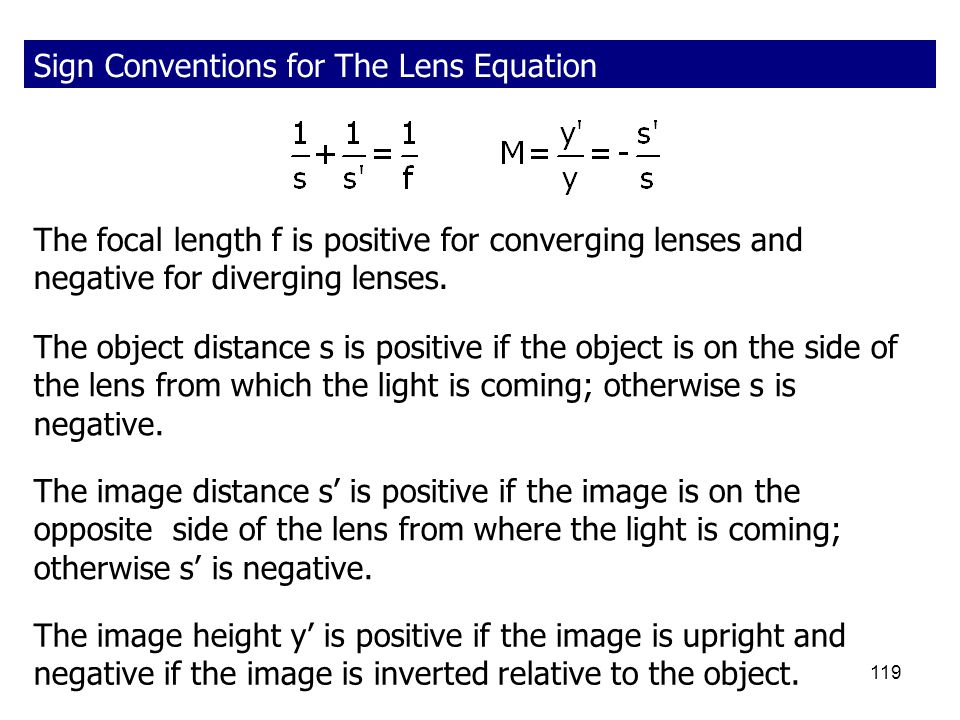 Sign Conventions for The Lens Equation