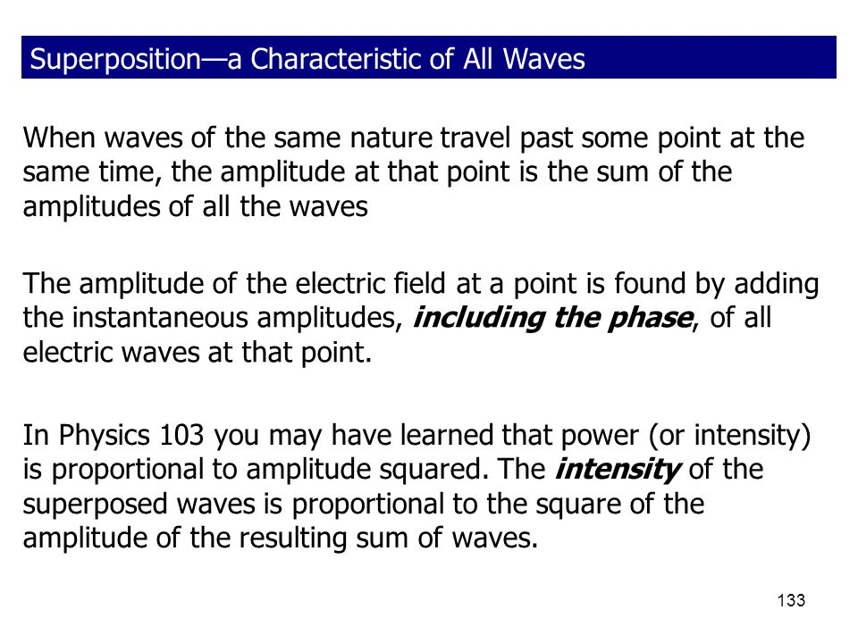 Superposition—a Characteristic of All Waves