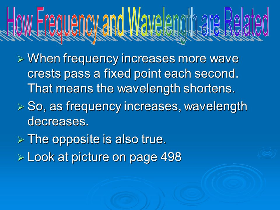 How Frequency and Wavelength are Related