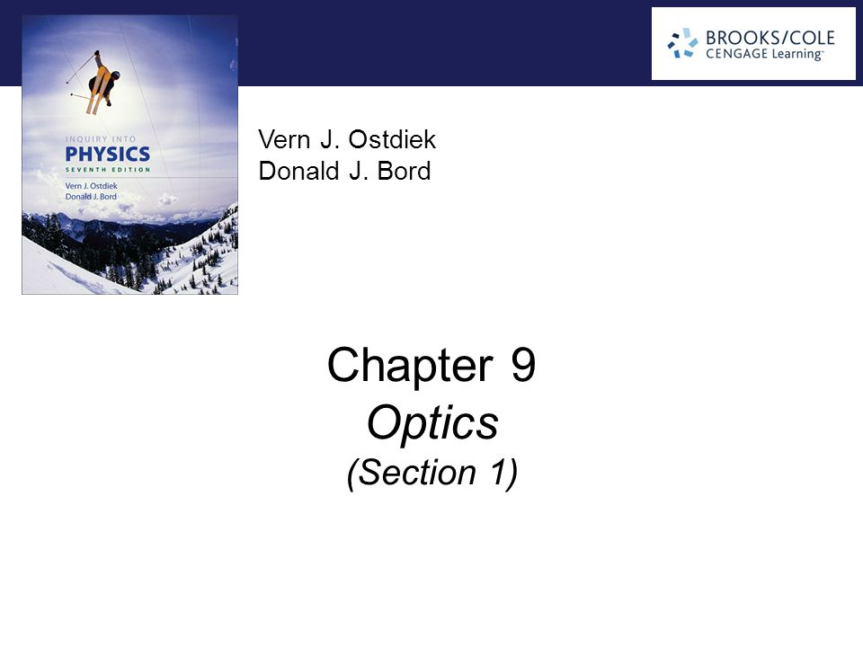 Chapter 9 Optics (Section 1)