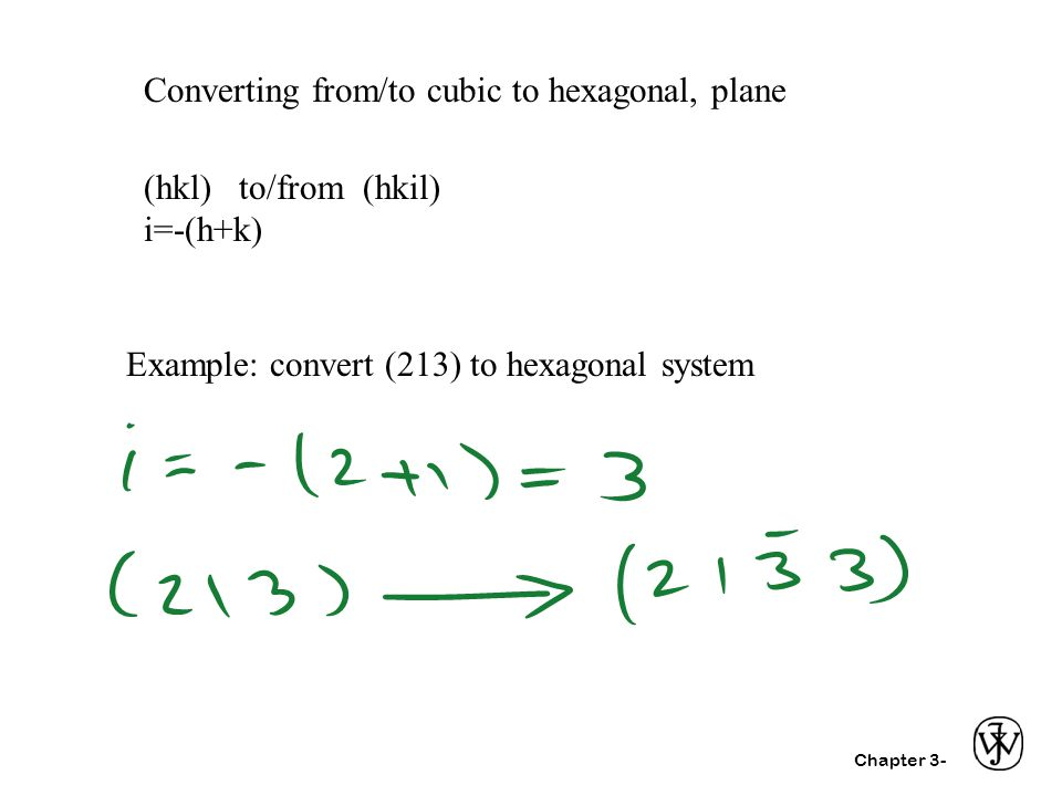 Converting from/to cubic to hexagonal, plane