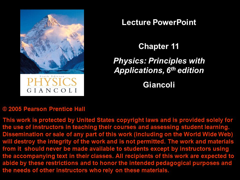 Physics: Principles with Applications, 6th edition
