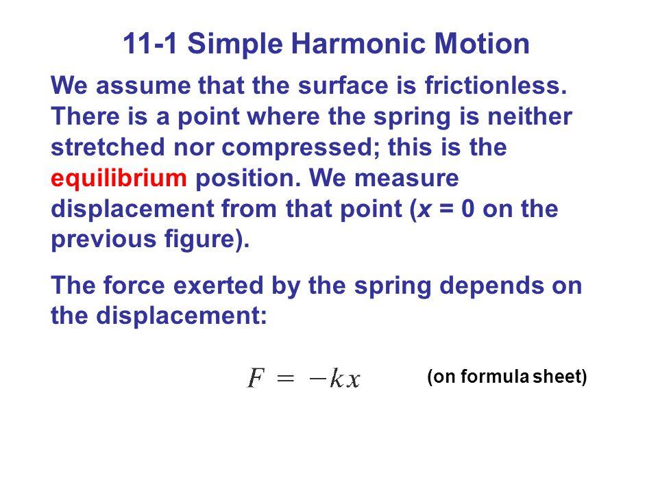11-1 Simple Harmonic Motion